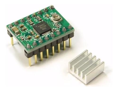 Imagen 1 de 2 de Driver A4988 Con Disipador Motor Pololu Nema 17 Impresora 3d