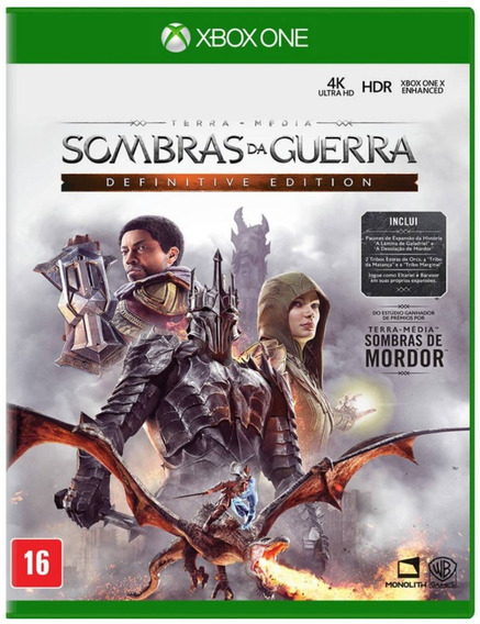 Sombras Da Guerra Definitive Edition Xbox One Mídia Física