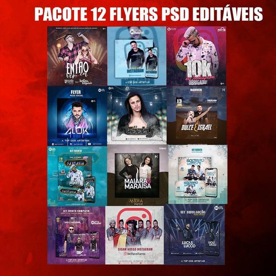 Pacote 12 Flyers Psd Editáveis
