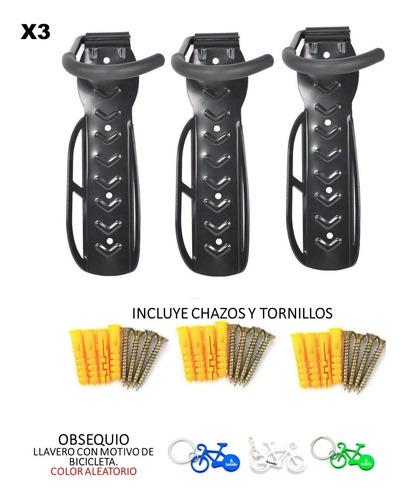 Soporte Pared Bicicleta 3 Unid + Tornillos-chazos +obsequio