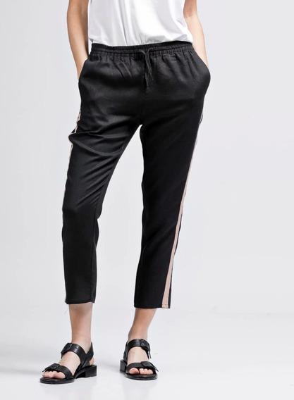 Pantalon Etiqueta Negra Babucha Blanco Negro