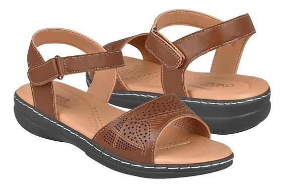 Sandalias Casuales Para Dama Comfort Fit 15558 Brown
