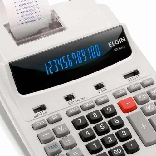 Calculadora Elgin Com Bobina 12 Dig. Mr 6124 - Frete Grátis