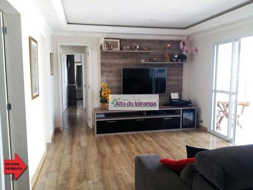 Apartamento Com 3 Dormitórios À Venda, 103 M² Por R$ 950.000,00 - Vila Guarani - São Paulo/sp - Ap3961