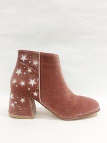 Zapato Lucerna Botineta Pana Estrellas Nude