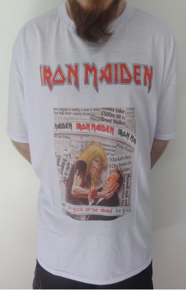 Camiseta Iron Maiden - Be Quick Or Be Dead - Tamanho: Gg