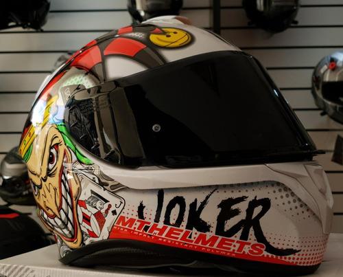 Imagen 1 de 5 de Casco Mt Helmets Targo Joker Gloss - Pearl White