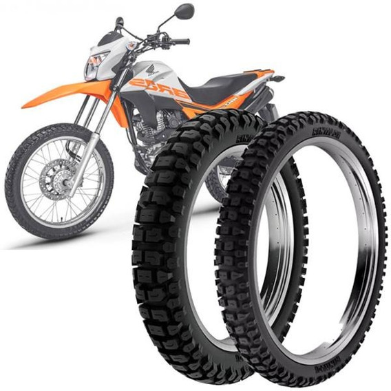 2 Pneu Moto Nxr Bros Rinaldi 110/90-17 60p 90/90-19 52p Rt36