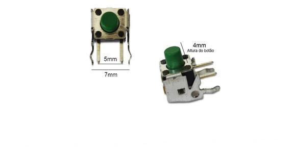 Kit Com 10 Botão Chave Tactil Vertical 4 Pinos 4x5x7mm