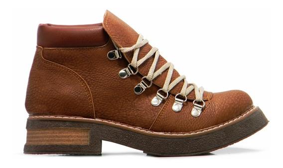 Zapato Borcego Mujer Botita Acordonado Mujer 35 A 40 Hotsale