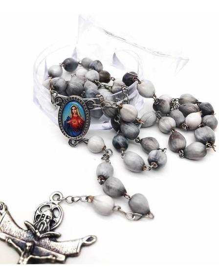 Terço Do Sagrado Coração De Maria Resina Lançamento