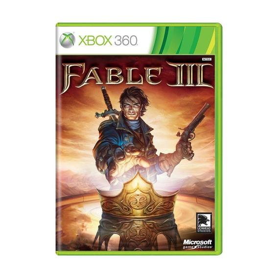 Fable Iii Xbox 360 Mídia Física Pronta Entrega
