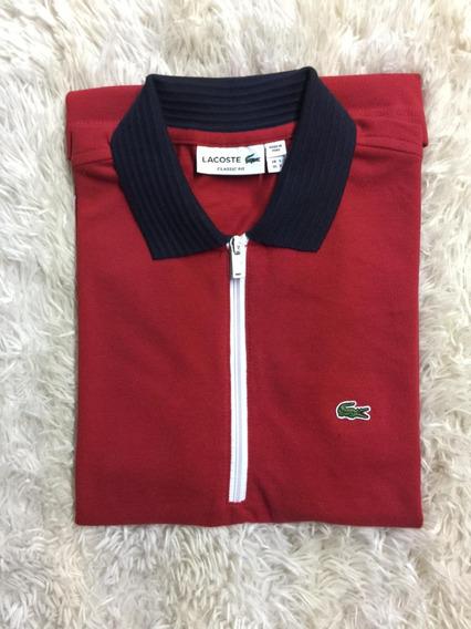 Camisa Polo Lacoste Original Zíper Várias Cores Frete Grátis