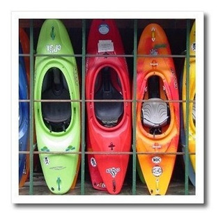 Deporte De Agua Kayak Hierro Sobre Transferencias De Calor
