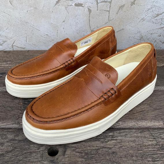 Loafer Couro Duplo Ralph Lauren Marrom Masculino