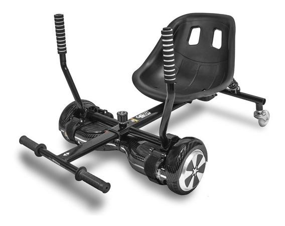 Carrinho Assento Hoverboard Go Kart Drift Two Dogs Preto