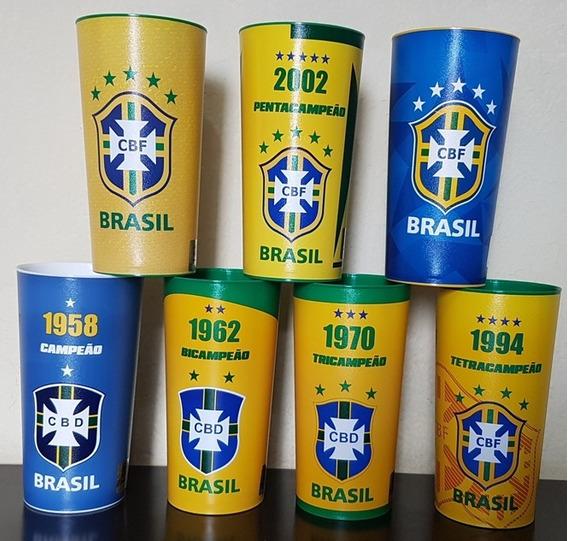 Coleção 7 Copo Oficial Futebol Brasil Cbf Copa Do Mundo 2018