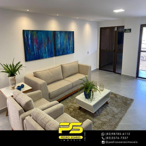 Apartamento Com 2 Dormitórios À Venda, 60 M² Por R$ 385.775 - Cabo Branco - João Pessoa/pb - Ap3655