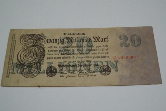 Alemanha- 20 Milhões De Marcos 1923