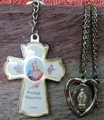 Chaveiro Coração De Maria E Colar C/ Menino Jesus (198)