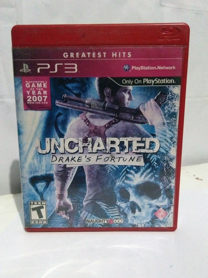 Jogo Uncharted 1 Drakes Fortune Mídia Física Ps3 R$40