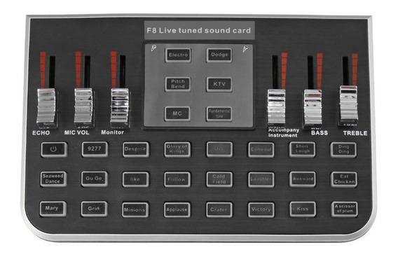F8 4 Modos Studio Mixer De Áudio Microfone Flâmula De Ao