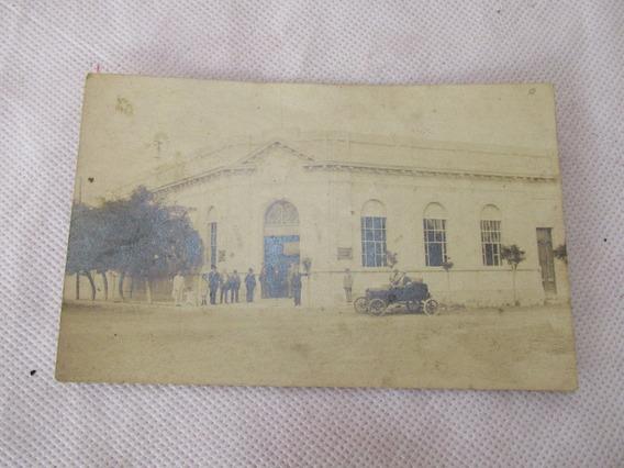 Antigua Postal Banco Nacion Argentino Auto Pueblo Ford ? #