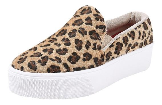 Tênis Casual Sapatenis Slip On Sneaker Feminino Ref13010