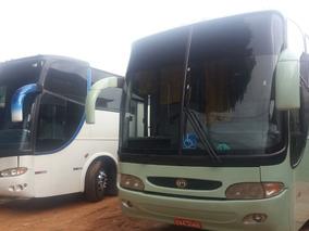 Dois Onibus Rodoviário Executivo Mb O400 E Scania 124 360 Cv
