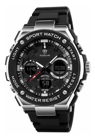 Relógio Masculino Militar Digital Analógico Nfe Garantia Top