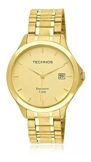 Relógio Masculino Technos Classic Steel 1s13bwtdy4x Gold Be