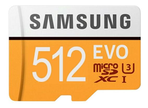 Micro Sdxc Samsung Evo 512 Gb (leitor Grátis Pronta Entrega)