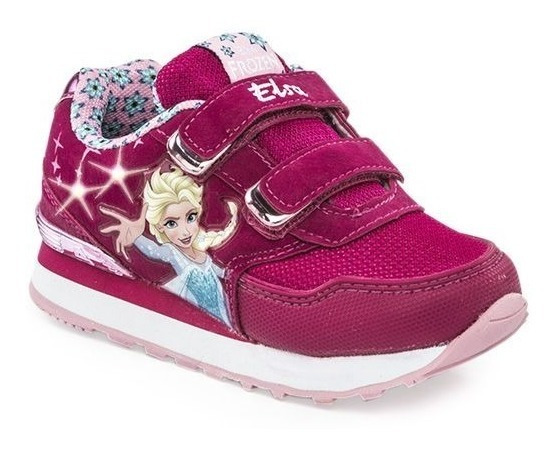 Addnice Zapatillas Niña Running Frozen Magic Velcro Fucsia