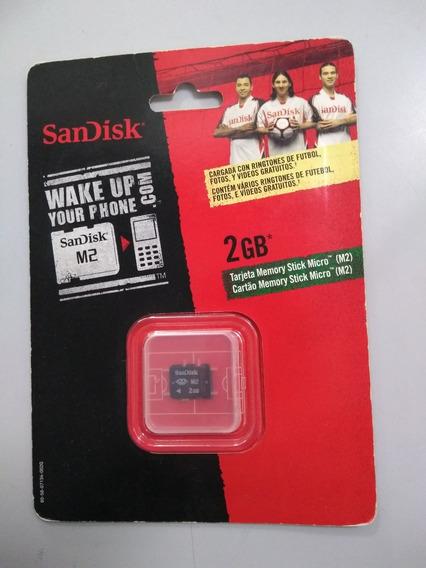 Cartão De Memória 2 Gb Memory Stick Micro-m2 Sandisk