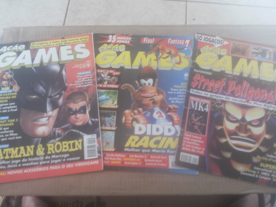 Lote 2 Revistas Ação Games