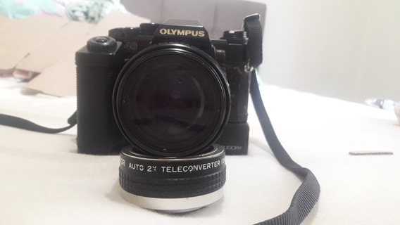 Olympus Om40/lente Sigma 80-200/teleconverter 2x