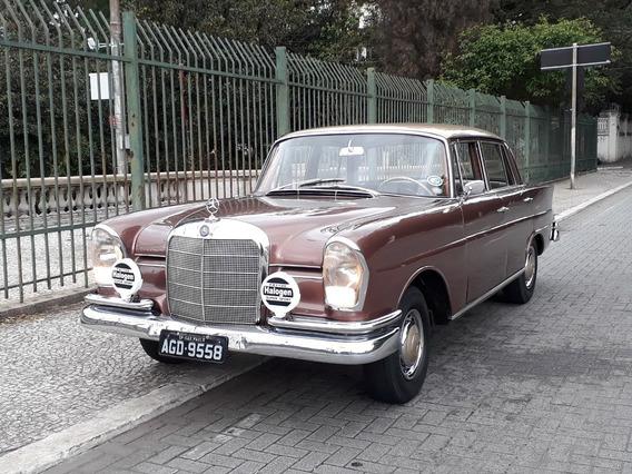 Mercedes 220s 1960 Fintail Rabo De Peixe Placa Preta Troco