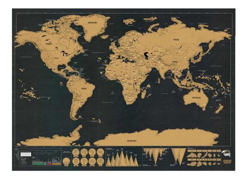 Mapa Para Raspar - Scratch Map Rasca Viajero Regalo