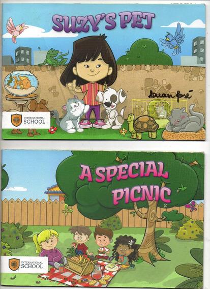 Lote C/ 7 Livros Infantis -ingles -frete Gratis