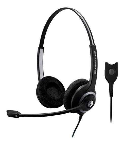 Fone De Ouvido C/microfone Headset Sennheiser- Sc260