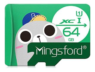 Mingsford 64g Micro Sd/tf Cartão Class10 Dispositivo De Arma