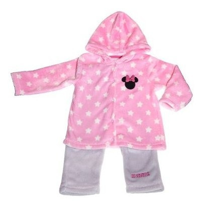 Pijama Bb Ideal Disney Conjunto Pantalon Bordado Minnie