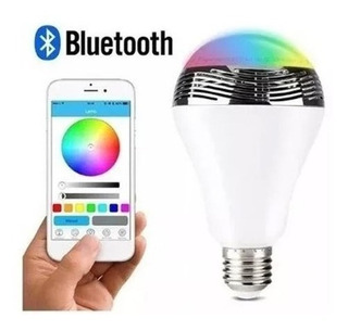 Lampara Led Smart + Musica + Rgb 10w Bluetooth