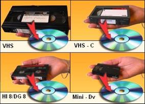 Conversão Fitas Vhs Vhs-c Mini-dv Hi8 Para Dvd Vinil K7 Mp3