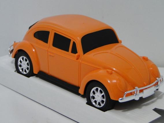 New Miniatura Fusca Laranja 1970 Carrinho Coleção Volkswagem