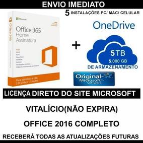 Office 365 Vitalício Office 2018 - Original 5 Pcs/mac