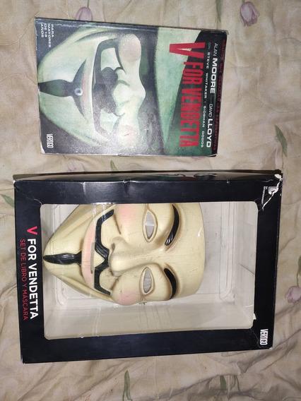 Máscara V De Vendetta Original (normal Version) Con Cómic