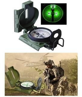 Bússola Profissional Militar Metal Alta Precisão - C/ Nfe