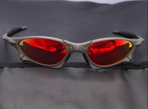 Oculos Oakley Juliet Penny X Xmetal Fire Red + Lente Extra