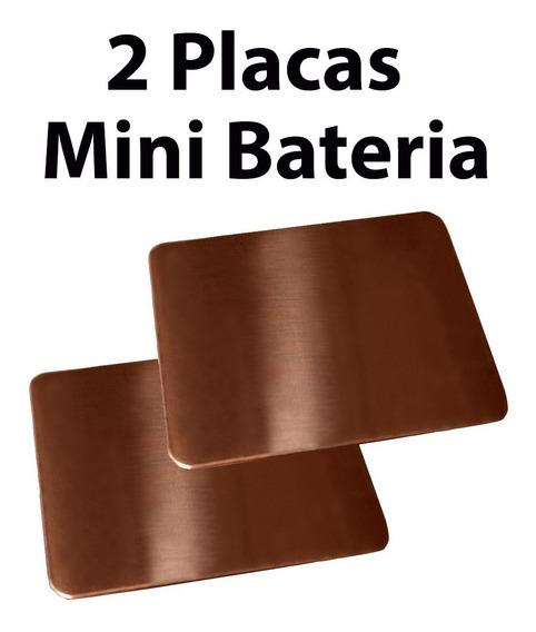 Placa De Cobre Para Mini Bateria 35mmx46mm